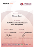 MoR® Foundation Certificate in Risk Management;